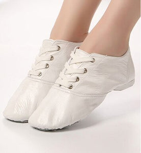 2019 Genuine Leather Dance Sneakers For Women Men Soft Breathable Sport Jazz Dance Shoes Ballet Yoga Gym Exercise Shoes 31-45