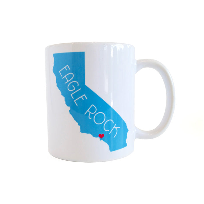California Love Eagle Rock Mug - Sky Blue