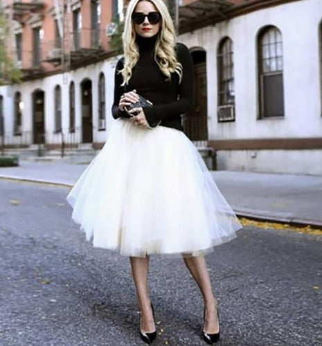 Aaron Tulle Skirt. STYLE TIP - Wear often, dress up (strappy heels) or wear down (flats)! Too much fun to sit in your closet.