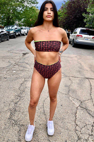 Reworked Vintage Fendi Swim Suit