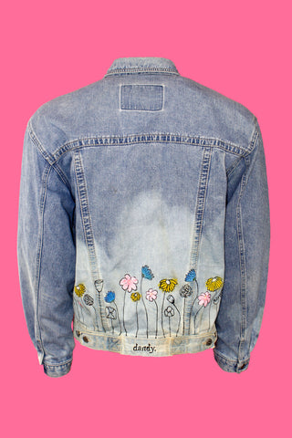 Dandy Flower Jean Jacket
