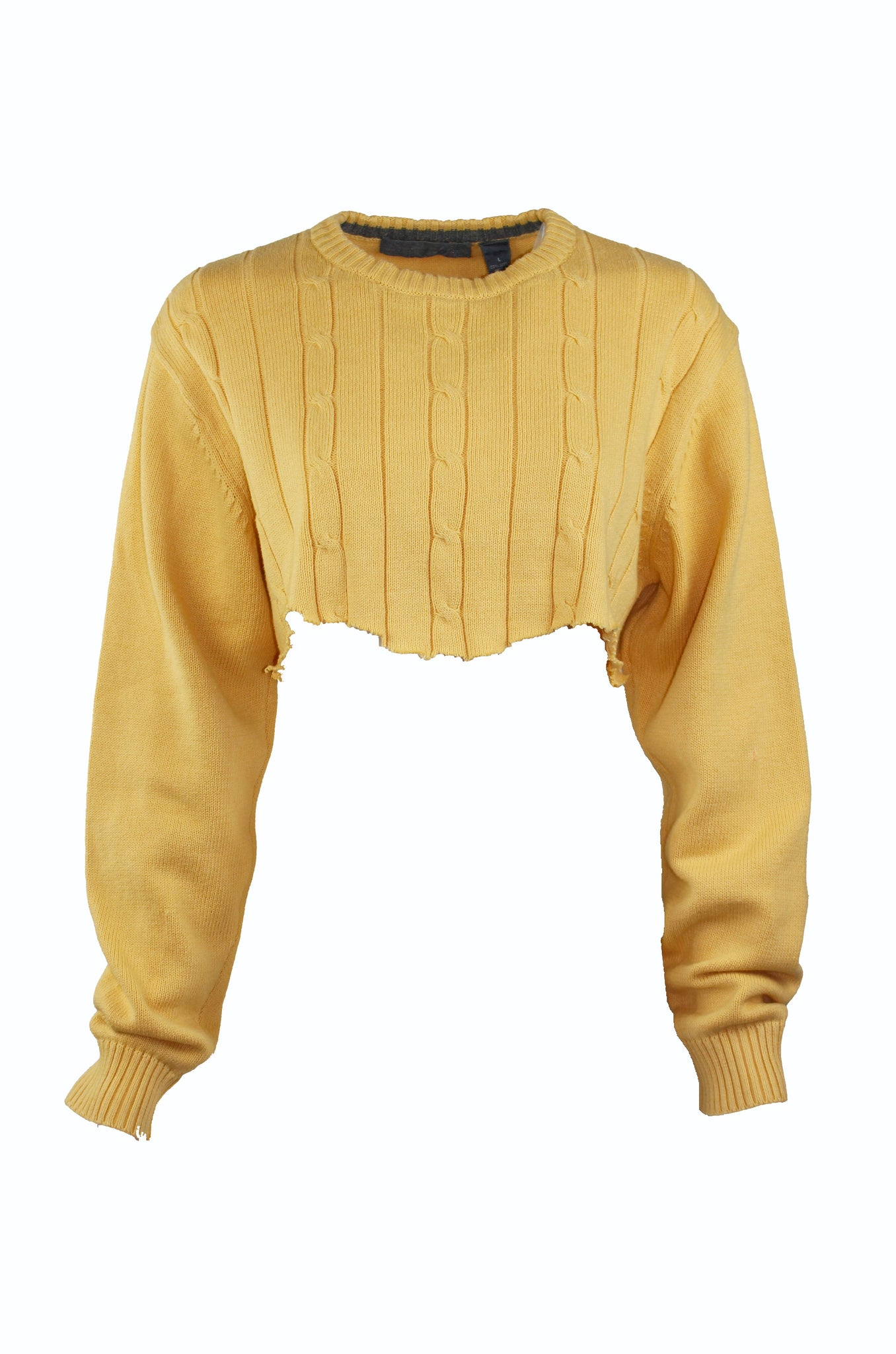 Reworked Vintage Cropped Oscar De La Renta Sweater