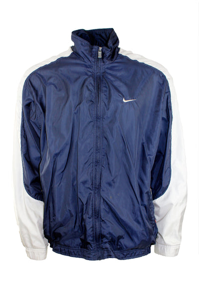 Vintage Navy and Light Grey Nike Windbreaker