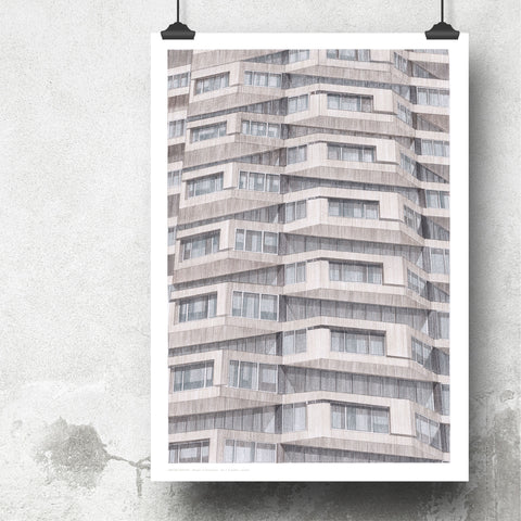 A2 Limited Edition of Hand Drawing - Shapes of Brutalism No. 1 Croydon, London