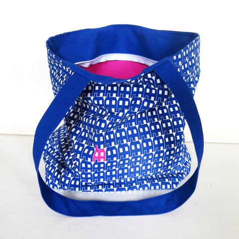Blue Paper House Lux Tote