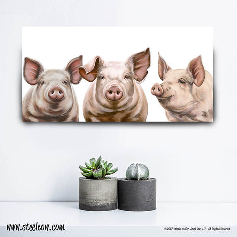 """Here, Piggy, Piggy, Piggy""™ Canvas Prints (3 sizes)"