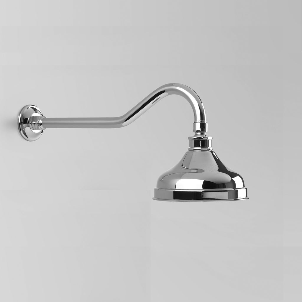 - Classic Olde English Shower Arm & Rose Only with 150mm ball joint rose
