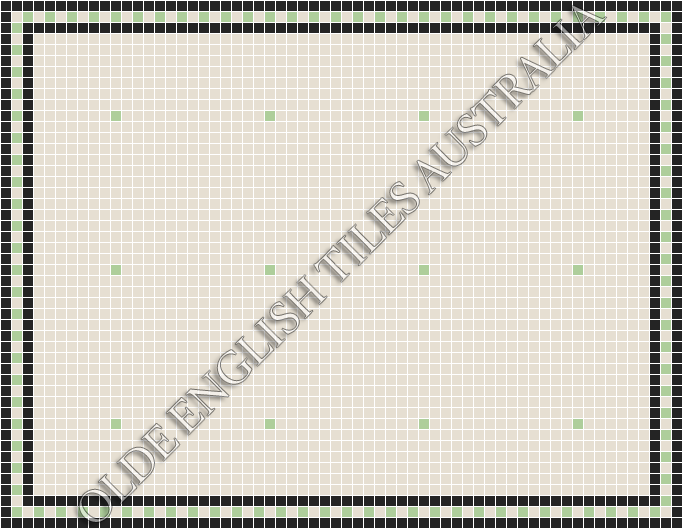 - Confetti 20 White with Sage Pattern