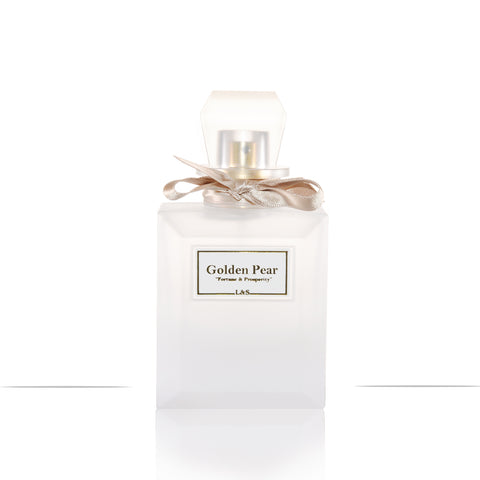 New! Golden Pear Aqua Perfume in White