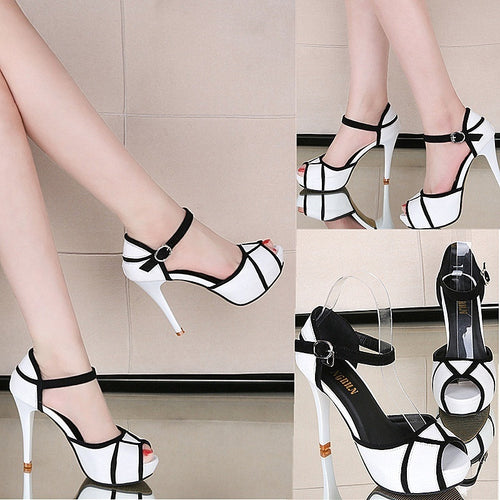 New Fashion Women Shoes Summer New Open Toe Fish Head Fashion High Heels Wedge Sandals
