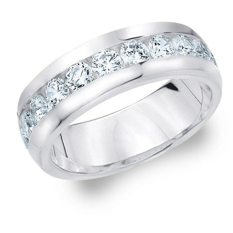 11 Diamond Platinum Wedding Band with Channel Setting SJ PTO 247 in India