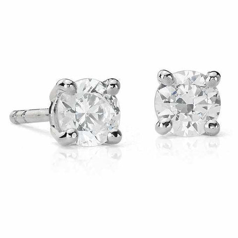 30 pointer Solitaire Diamond Earrings in Platinum SJ PTO E 153 in India