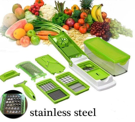 ALL-IN-ONE VEGETABLE AND FRUIT SLICER/DICER (12 IN 1)