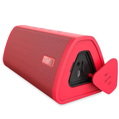 Powerful Red 10W Waterproof Bluetooth Portable Wireless Speaker