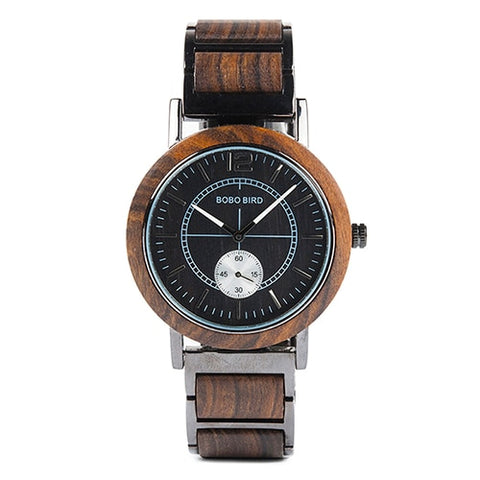 Women's Luxury Style Black Wooden Minimal Watch