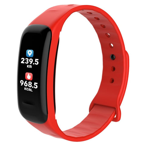 Red Waterproof Bluetooth Heart Rate Health Monitor Tracker Smart Bracelet