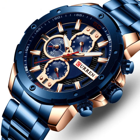 Men's Beautiful Stainless Steel Sports Minimal Watch