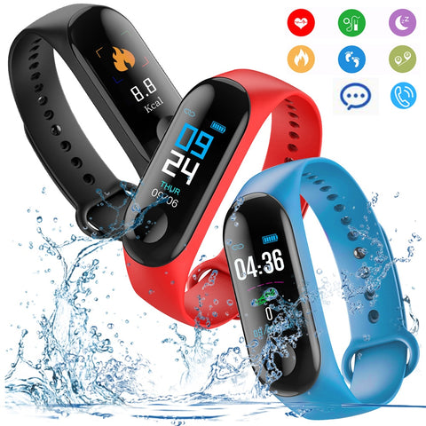 Black w/Orange Universal Bluetooth Sports Heart Rate Monitor Smart Bracelet
