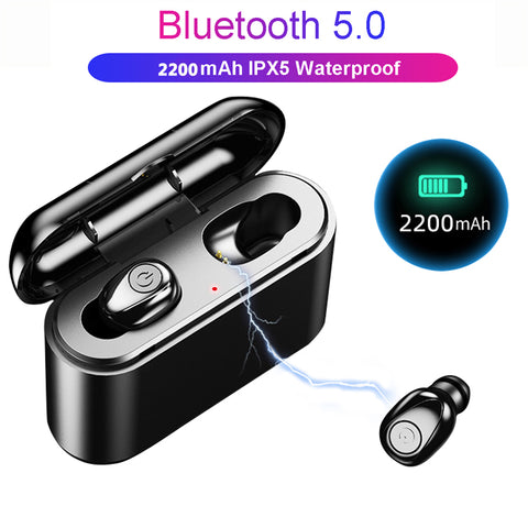 Best White Wireless Bluetooth 5D Sound 2200mAH Mini Earbuds