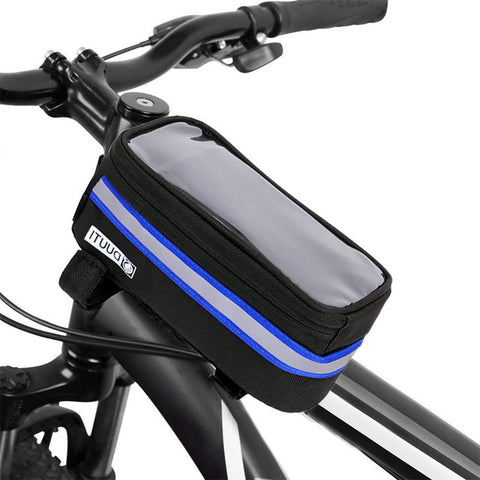 "Black Bicycle Waterproof Small 4.8"" Cell Phone Holder"