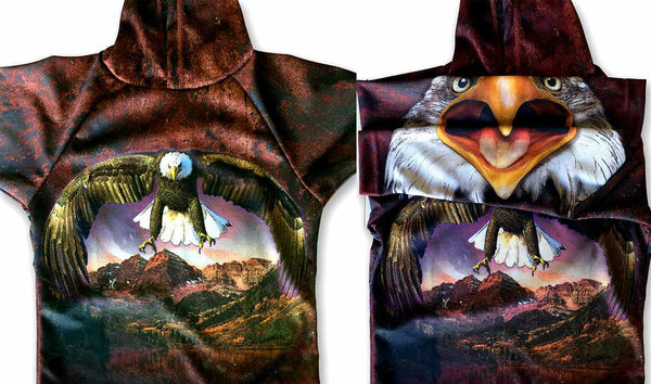 BALD EAGLE SPIRIT Hoodie Sport Shirt by MOUTHMAN®
