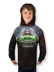Mouthman® MotorMouths™ GOLDEN GATE Car Hoodie - FRONT