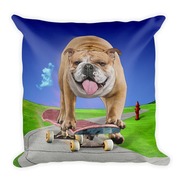Bulldog Square Pillow by Mouthman®