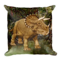 Triceratops Square Pillow by Mouthman®