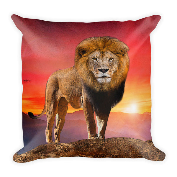 Lion Square Pillow by Mouthman®