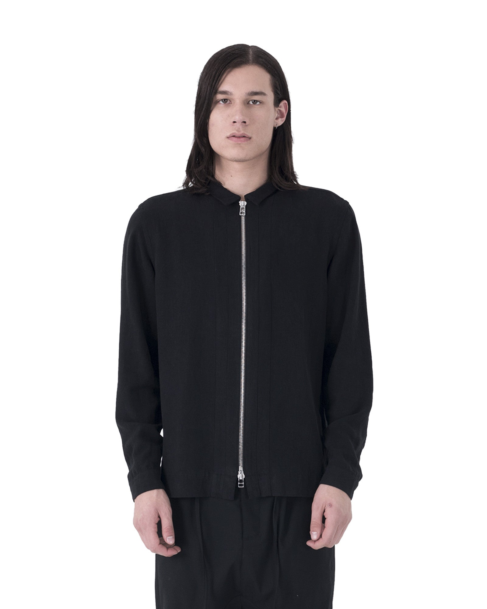 Derb Shirt Jacket - OD Black
