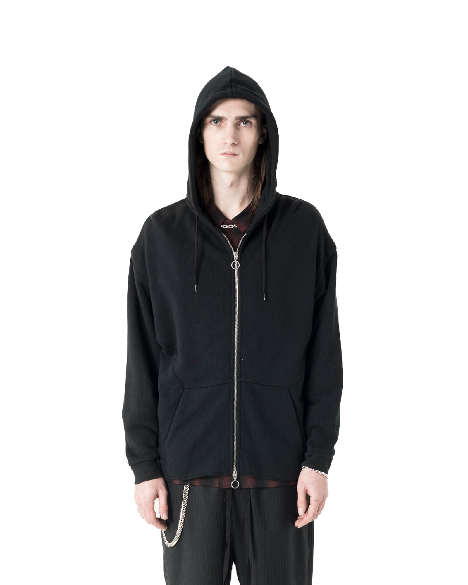 Leon Zip-Up Sweatshirt - Black