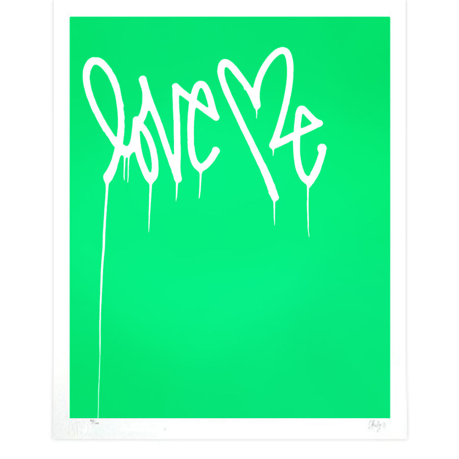 Love Me, Fluorescent Green - Archive