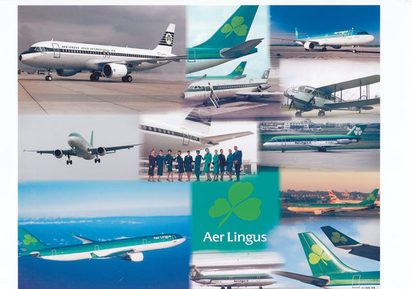 AER LINGUS  -  A4 Collage Print EI001