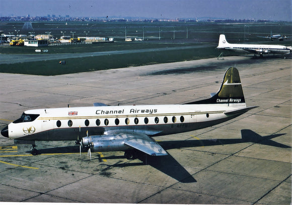 CHANNEL AIRWAYS VICKERS VISCOUNT G-APPU - 6 x 4 Print
