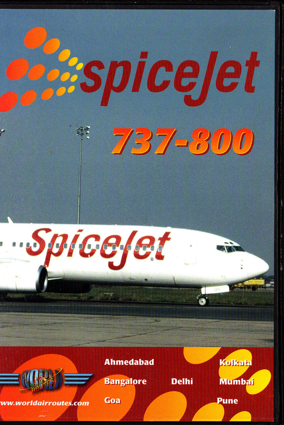 SPICE JET BOEING 737-800 -  Aircraft DVD
