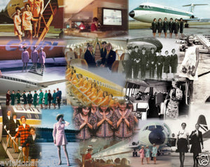 STEWARDESS OF THE WORLD -  A4 Collage Print SWD001