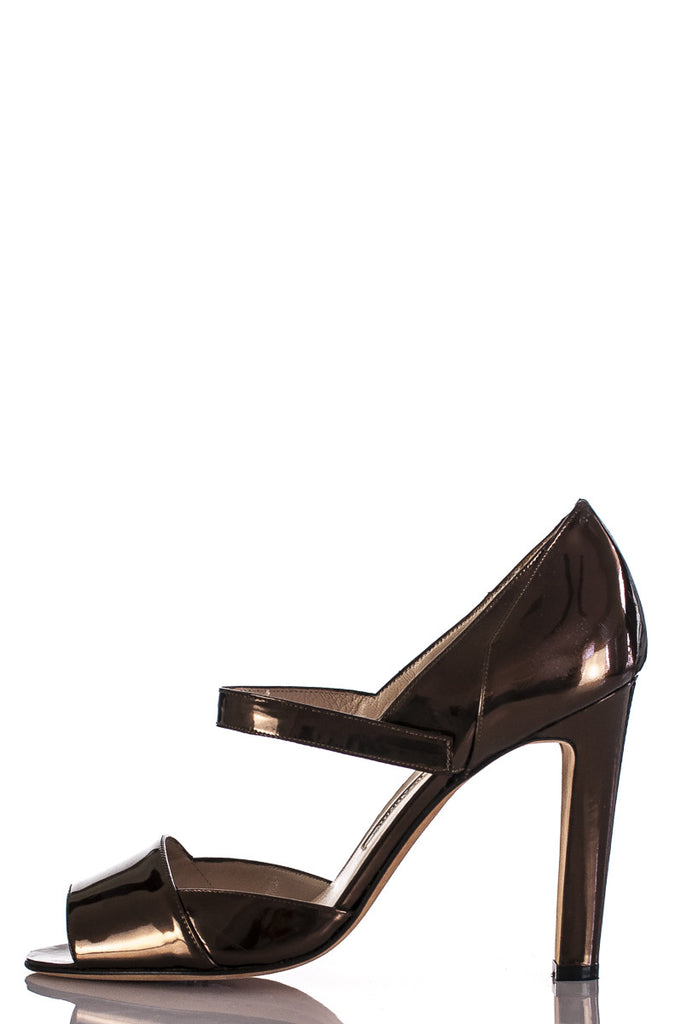 Manolo Blahnik metallic Brijuni Mary Jane pumps Size 8  [40% OFF] - OWN THE COUTURE