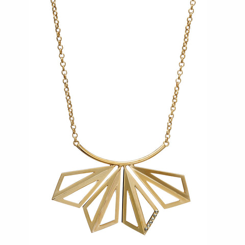 Cubist Leaf Necklace