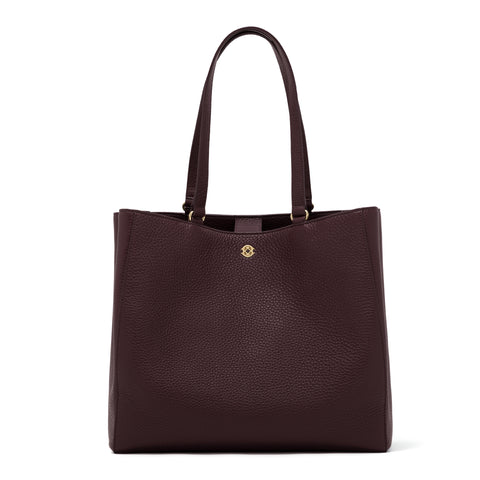 Allyn Tote - Oxblood - Large