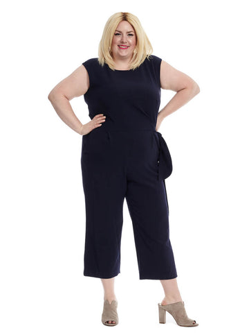Culotte Jumpsuit With Side Tie