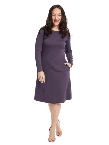 Baxter Dress In Deep Purple