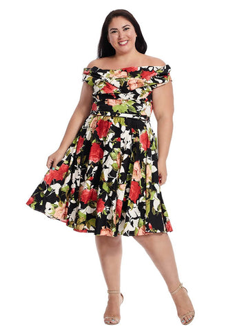 Blanc Noir Dress In Black Floral