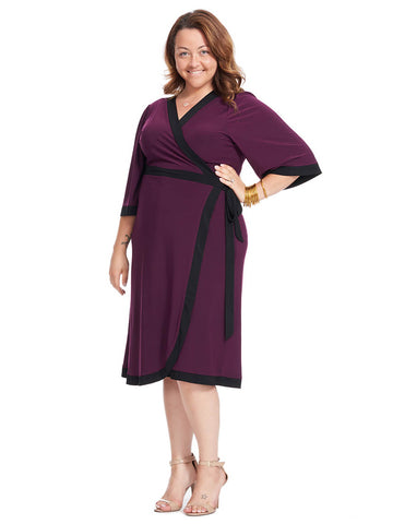Weekend Wrap Dress In Blackberry