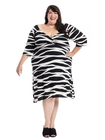 Alex Dress In Black & White Print