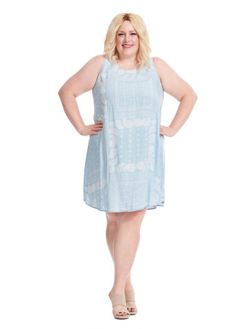 Chambray Dress In Paisley Print
