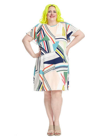 Abstract Geo Dress