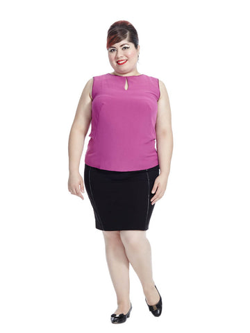 Key Hole Top in Fuchsia