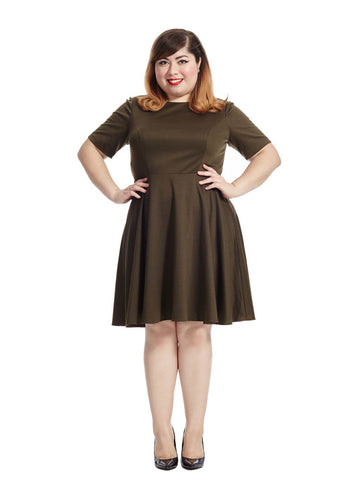 Amelie Dress In Olive
