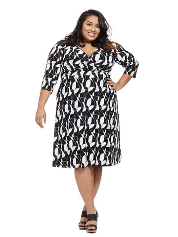 Alex Dress In Modern Geo Swirl