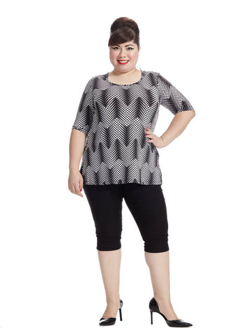 Thea Tunic In Descending Dots